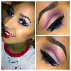 Purple cut crease & impeccable eyeliner