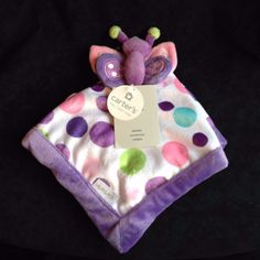 Carter's Butterfly Lovey Purple Security Blanket Polka Dots NWT Quick Shipping! | Baby, Nursery Bedding, Blankets & Throws | eBay!