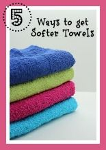5 Simple Ways to Get Your Towels Softer  #diy #frugal