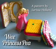 Sooo adorable❣  Christmas stocking stuffer—Wee Princess Pea—case is made using an upcycled Altoid tin❣  (PDF pattern @ mmmcrafts, Etsy)