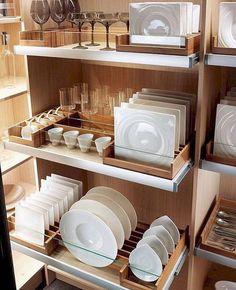 Phenomenon 30 Astonishing Small Kitchen Storage Ideas For Small Space - Design & Decor - Small Farmhouse Kitchen, Small Space Kitchen, Small Spaces, Storage Design, Diy Storage, Storage Ideas, Storage Organization, Extra Storage, Kitchen Organization