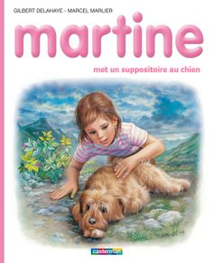 Martine met un suppositoire au chien