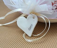Personalised Porcelain Wedding Favour Tags