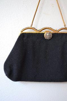 Vintage Bags, Vintage Love, Beaded Purses, Antique Clothing, Vintage Fabrics, Cloth Bags, Black Silk, Fashion History, Vintage Accessories