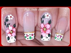 Flower Toe Nails, Flower Nail Art, Flower Nail Designs, Nail Art Designs, Manicure And Pedicure, Spring Nails, Make It Yourself, Manicures, Animal