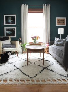 Make sure to choose the best living room rug that complements your room's design.