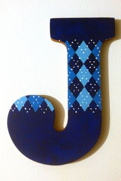 Argyle Hand Painted Wooden Letter