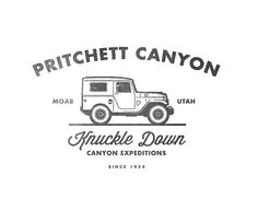 Pritchett Canyon Logo #design #type / repinned on toby designs