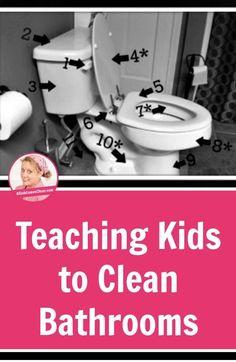 Teaching Kids to Clean Bathrooms   A Slob Comes Clean