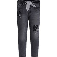 Jeans with belt for girl Black - Mayoral Denim Fabric, Girls Jeans, Kind Mode, Sweatpants, Skinny Jeans, Belt, Black, Products, Fashion