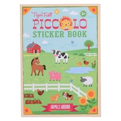 For children who love animals and arts, Piccolo Sticker Book Animals Abound can offer the best of both worlds. Hello Charlie - Tiger Tribe Piccolo Sticker Book - Animals Abound, $7.95 (http://www.hellocharlie.com.au/tiger-tribe-piccolo-sticker-book-animals-abound/)
