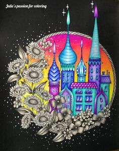 MAGICAL DAWN - magisk gryning by Hanna Karlzon Colored by Julie's passion for coloring