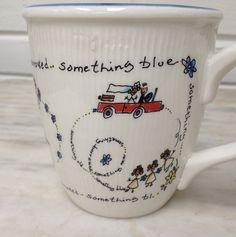 vintage Spose wedding mug Something old, something new.....coffee mug, bride marriage, Italy by MotherMuse on Etsy