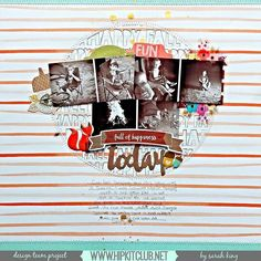 Designer @mother0froyalty is sharing on our FB page this awesome LO  She used the great sketch designed by team member @ashleyhorton75  #october2015 kits @americancrafts @amytangerine @dearlizzy @pinkpaislee Cedar Lane #hipkits #hipkitclub #scrapbook #scrapbooklayout