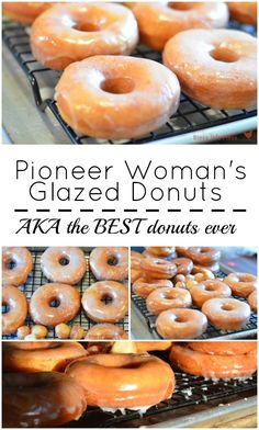 Pioneer Woman's Glazed Donuts Pioneer Woman's Glazed Donuts are the BEST donuts you'll ever eat. I've been making this easy donut recipe for years and can honestly tell you it's PERFECT! - The Pioneer Woman's Glazed donuts AKA the best donut recipe ever Best Donut Recipe, Donut Recipe Pioneer Woman, Easy Yeast Donut Recipe, Fried Doughnut Recipe, Pioneer Woman Cookies, Amish Donuts Recipe, Pioneer Woman Desserts, Baked Cake Donut Recipe Without Donut Pan, Light Fluffy Donut Recipe
