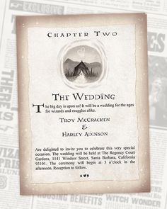 Funny wedding invitation wording for friends from bride and groom harry potter wedding invitation chapter invite digital stopboris Choice Image