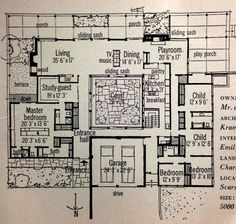 Mid Century Modern House Plan Luxurious Layout. Would love to make a layout like this on the sims