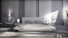 SAM-Polsterbett-White-Pau-in-wei-140-x-200-cm-modernes-Design-inklusiv-2-Nachttischablagen-Wasserbett-geeignet-0 Sweet Home, Bedroom, Architecture, Interior, Furniture, Home Decor, Budapest, France, Waterbed