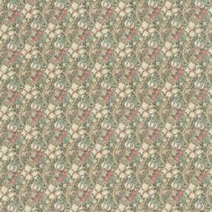 William Morris & Co Golden Lily Minor Fabric – Artichoke/Vanilla Product Code: Golden Lily Minor Fabric – Artichoke/Vanilla – William Morris & Co Compendium III Fabrics Collection How To Hang Wallpaper, Retro Wallpaper, Wallpaper Designs, How To Make Curtains, Made To Measure Curtains, Cottage Wallpaper, Tricia Guild, Animal Print Wallpaper, Scale Design
