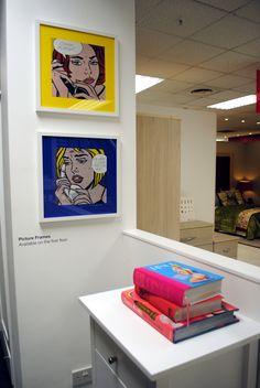 // visual merchandising // display // bedroom // pop art // lichtenstein