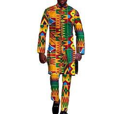 1eeaa272c644  131.98 - African Clothing for Men 2 Piece top pants Ankara Dashiki Cotton  Print Style Amazon