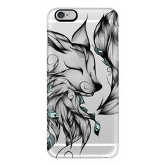 Fox B&W - iPhone 7 Case, iPhone 7 Plus Case, iPhone 7 Cover, iPhone 7... ($40) ❤ liked on Polyvore featuring accessories, tech accessories, iphone case, slim iphone case, iphone cover case, apple iphone case and iphone cases