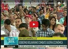 Salario mínimo en Venezuela aumenta 40 % En un país en el que no hay dinero ni para pagar los más básicos servicios públicos el régimen de Maduro acaba de decretar un aumento de sueldos... http://www.facebook.com/pages/p/584631925064466