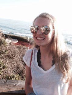 Selfie stick in Laguna Beach
