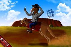 "BoJack & Jack in Australia #NetflixDownUnder -BoJack Horseman and Jack ""The Kangaroo"""