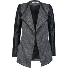 ONLY Drapy Pu Jacket ($56) ❤ liked on Polyvore featuring outerwear, jackets, coats, casacos, coats & jackets, black, pu jacket, only jackets, tall jackets and polyurethane jacket