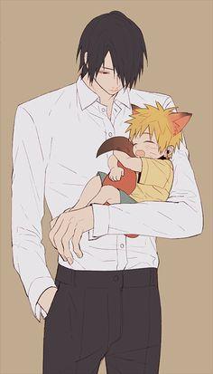 Sasuke x child Naruto