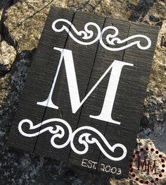 monogram wood sign #silhouette