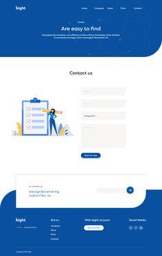 Contact us page design Sites Layout, Web Layout, Simple Web Design, Creative Web Design, Landing Page Examples, Landing Page Design, Web Design Projects, Web Design Trends, Design Web