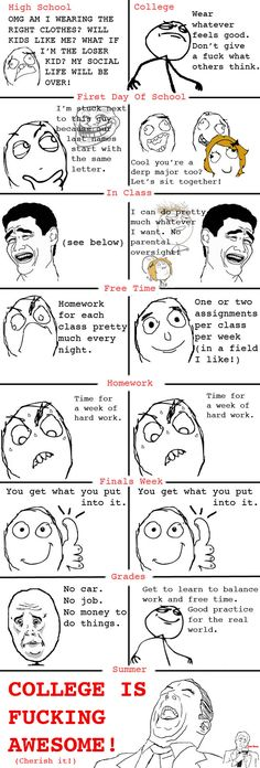 Le College Is Awesome - View more rage comics at http://leragecomics.com