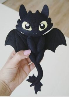 Toothless Dragon Toothless Dragon The Effective Pictures We Offer You About Montessori k Halloween Ornaments, Felt Ornaments, Felt Dragon, Baby Mobile, Felt Fairy, Dragon Figurines, Plush Pattern, Felt Animals, Jungle Animals