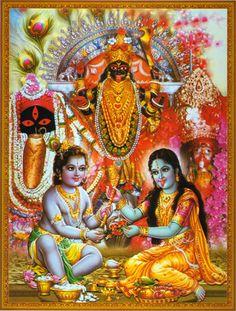 Indian Goddess Kali, Goddess Lakshmi, Indian Gods, Maa Kali Images, Lord Krishna Images, Lord Ganesha Paintings, Krishna Painting, Kali Hindu, Hindu Art