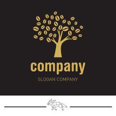 Pre made Coffee Bean Logo Design  Bakery Coffee Shop by LogoLoft, $80.00