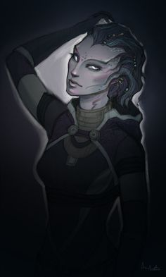 Tali)) by on DeviantArt Mass Effect Characters, Sci Fi Characters, Alien Creatures, Fantasy Creatures, Tali Mass Effect, Aliens, Character Inspiration, Character Design, Character Ideas