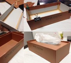 ヴィトン掛け時計も数百円で「カルトナージュ」♡ブランド紙袋で大人リサイクルDIY | by.S