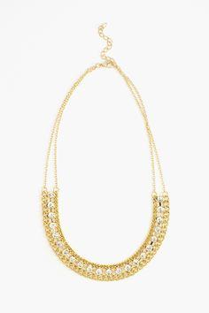 Crystal Link Collar Necklace