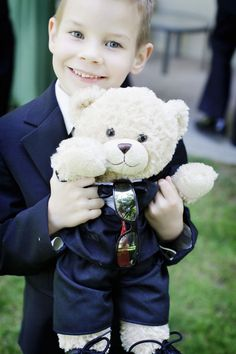 Build-A-Bear as ring bearer gift. This would be cute if I had a ring bearer to use many years down the road.