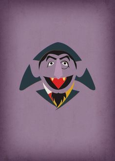 Sesame Street Character Count von Count Minimalist by TheRetroInc