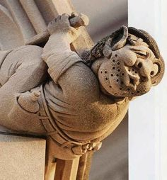 Modern grotesque from the National Cathedral, Washington - All of the stone carvers who worked on the building are immortalized as grotesques
