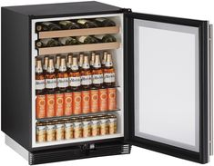U-Line - U-1024BEVS-00B - Wine Refrigerators and Beverage Centers