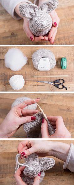 Cómo hacer un conejito sencillo de punto