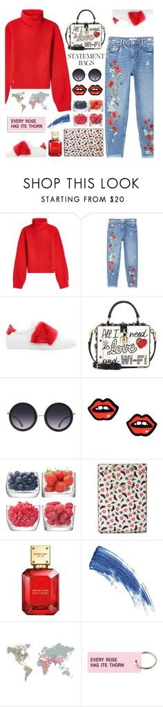 """Statement Bags"" by j4wahir on Polyvore featuring Versace, MANGO, Givenchy, Dolce&Gabbana, Alice + Olivia, George J. Love, LSA International, Charlotte Olympia, Michael Kors and Eyeko"