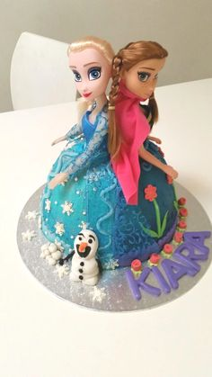 Frozen cake Ma Baker, Frozen Cake, Snow Globes, Decor, Decoration, Decorating, Dekorasyon, Dekoration, Home Accents