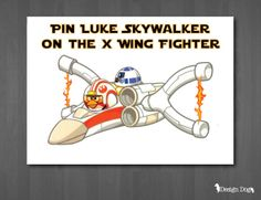 Pin Luke Skywalker on the X-Wing Fighter- Star Wars Angry Birds Party Game. Message me through Pinterest if you are interested in purchasing this instant download!