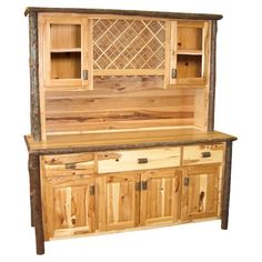 I pinned this Hickory Cabinet from the Lunch at the Lodge event at Joss and Main!