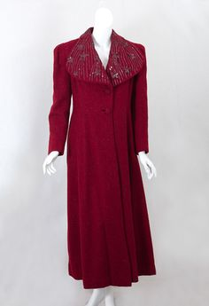 Sequined wool coat, late 1930s